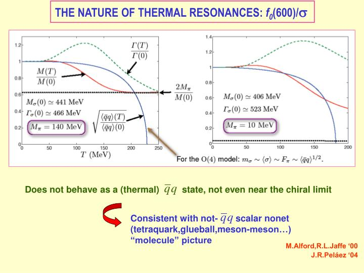 Does not behave as a (thermal)         state, not even near the chiral limit