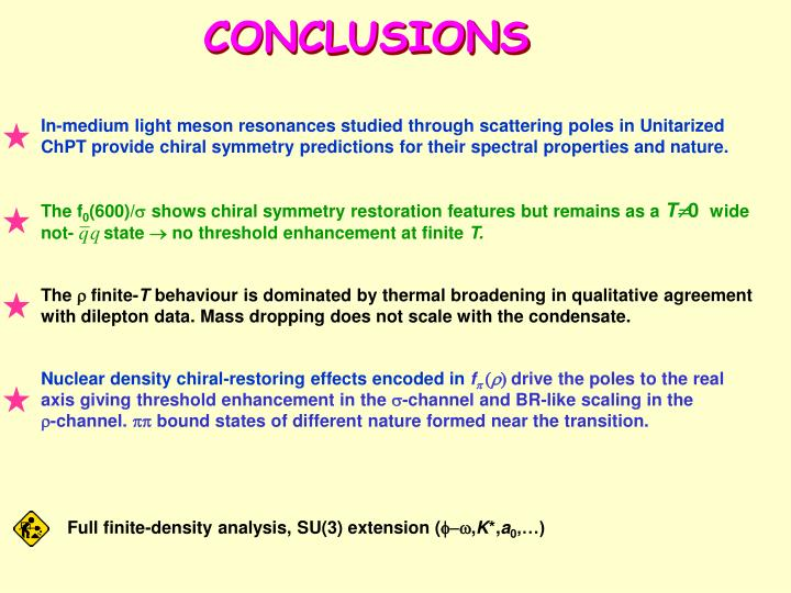 In-medium light meson resonances studied through scattering poles in Unitarized ChPT provide chiral symmetry predictions for their spectral properties and nature.
