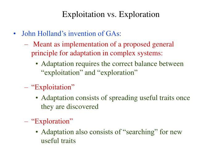 John Holland's invention of GAs: