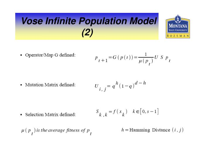 Vose Infinite Population Model (2)