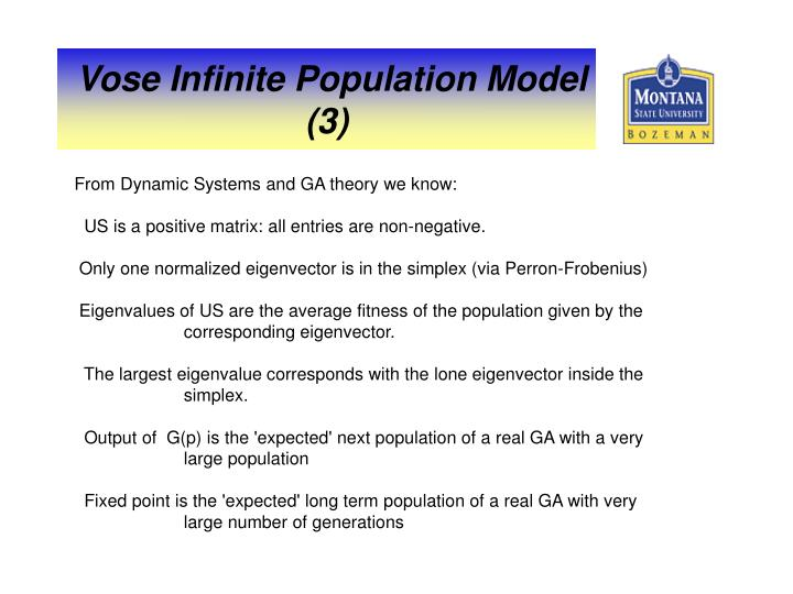From Dynamic Systems and GA theory we know: