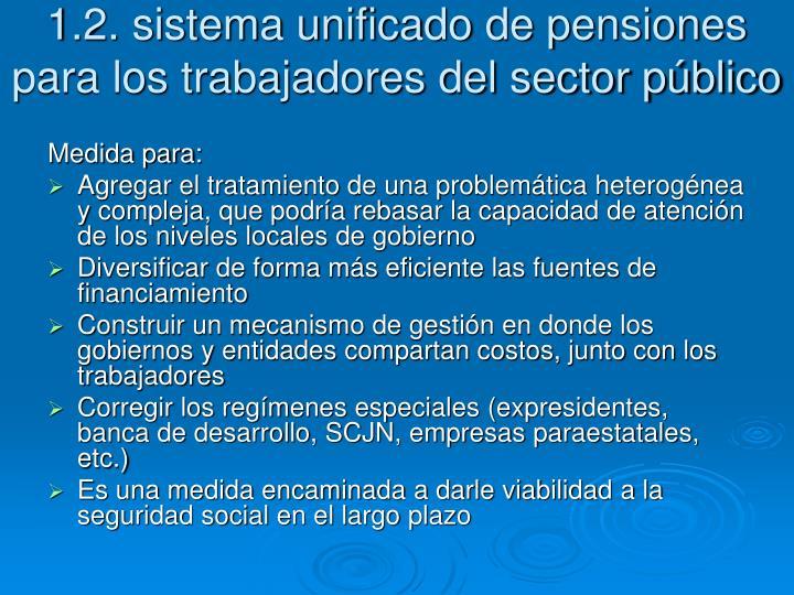 1.2. sistema unificado de pensiones para los trabajadores del sector público