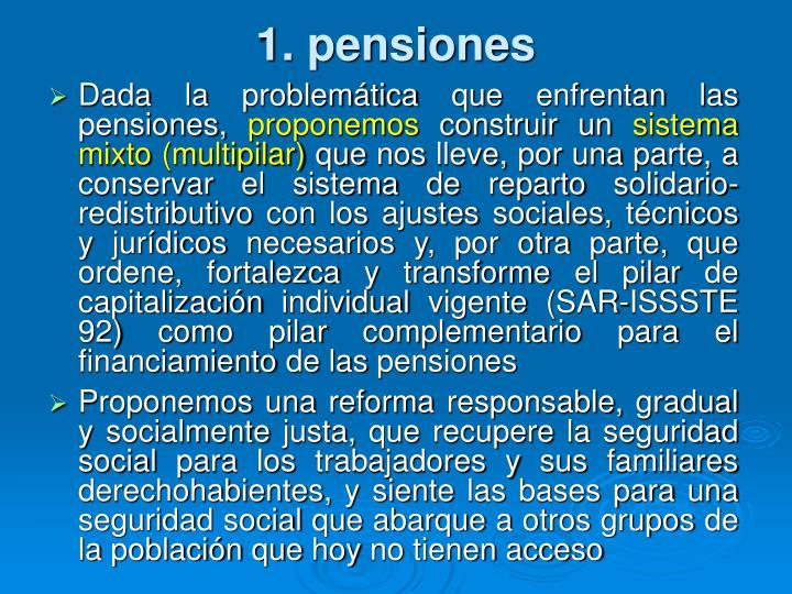 1. pensiones