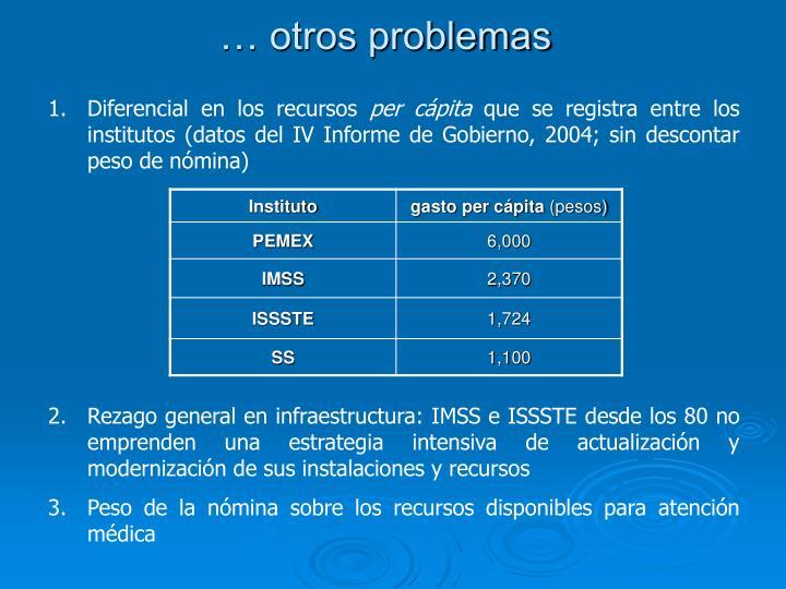 … otros problemas
