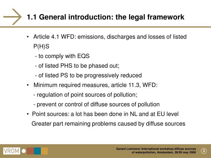 1.1 General introduction: the legal framework