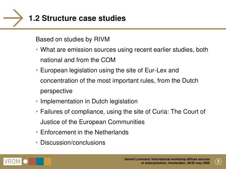 1.2 Structure case studies