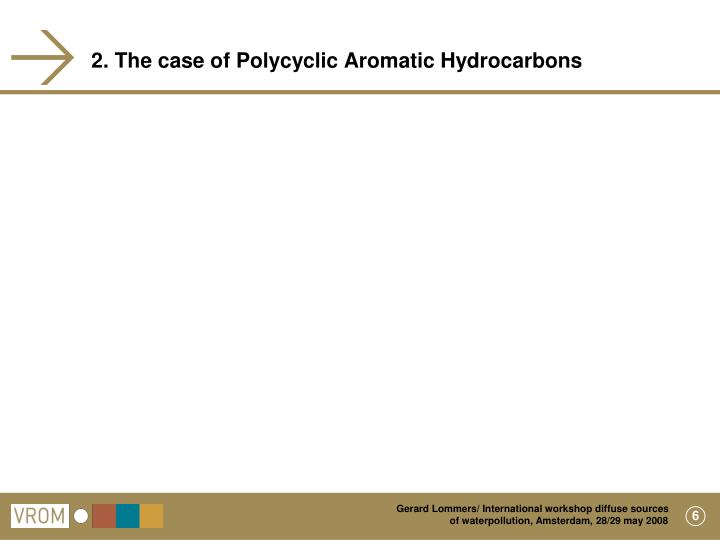 2. The case of Polycyclic Aromatic Hydrocarbons