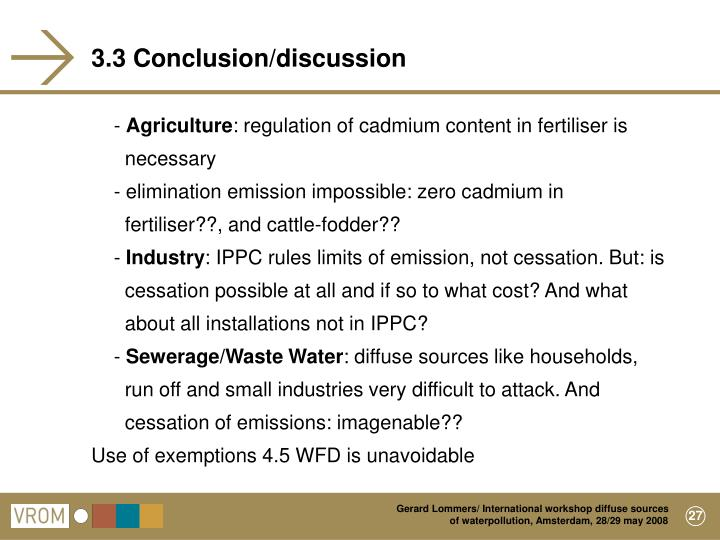 3.3 Conclusion/discussion