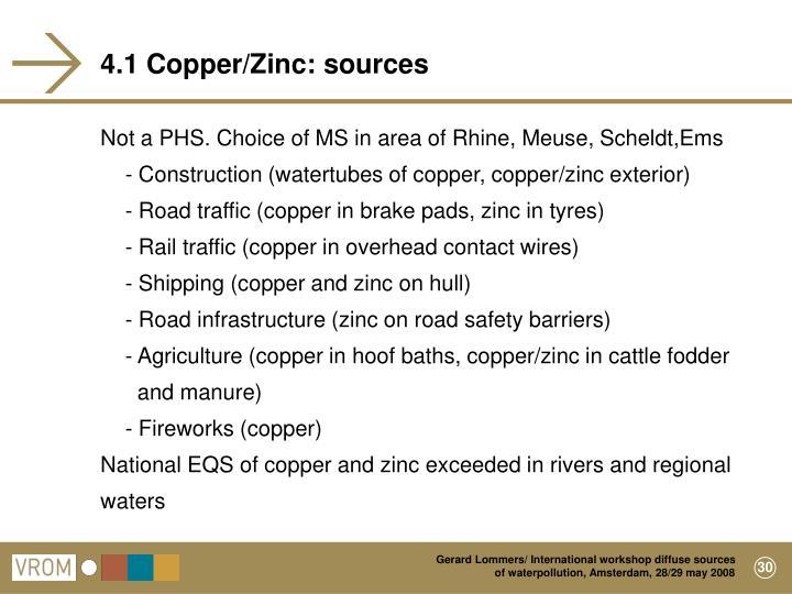 4.1 Copper/Zinc: sources