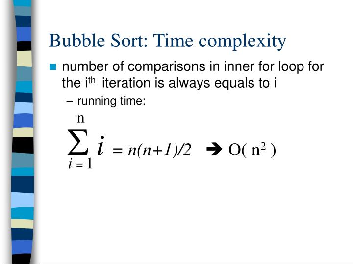 Bubble Sort: Time complexity