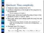 quicksort time complexity