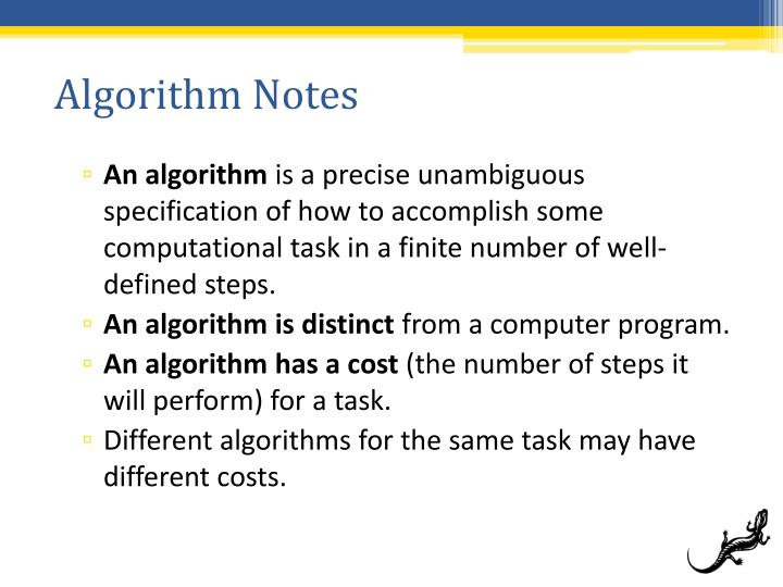 Algorithm Notes