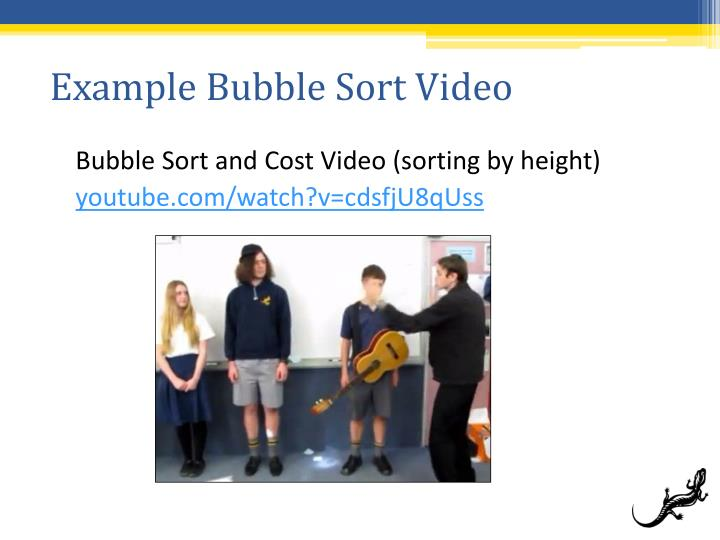 Example Bubble Sort Video