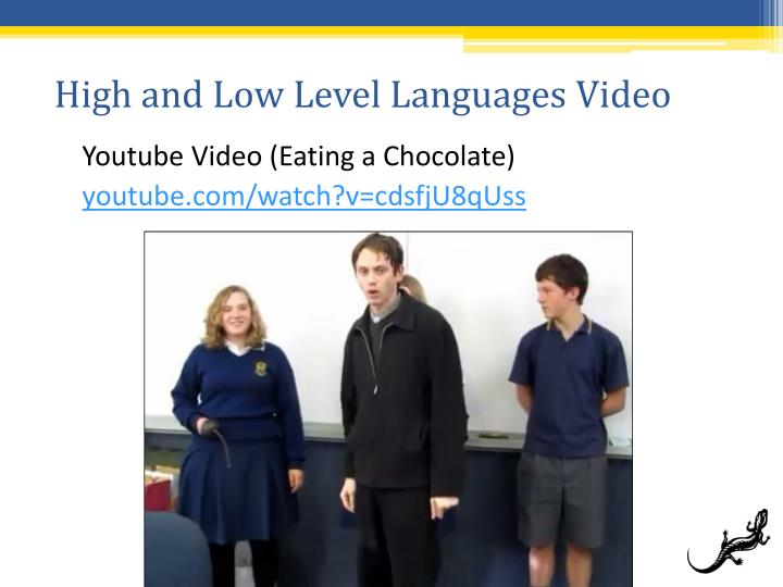 High and Low Level Languages Video