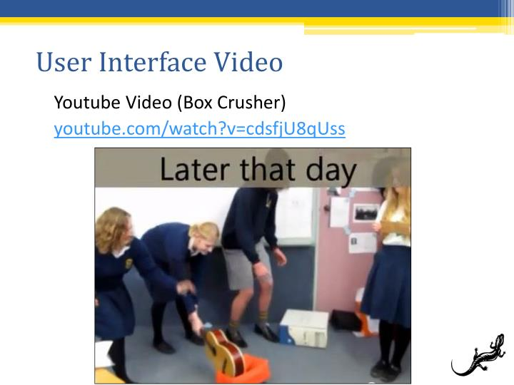 User Interface Video
