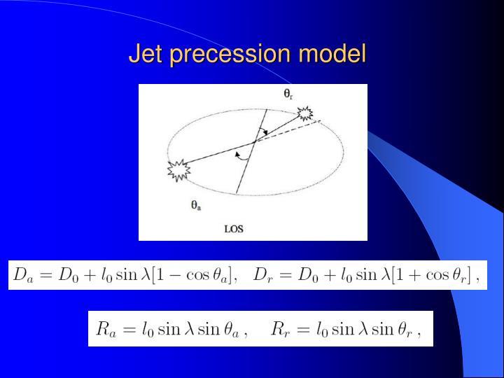 Jet precession model
