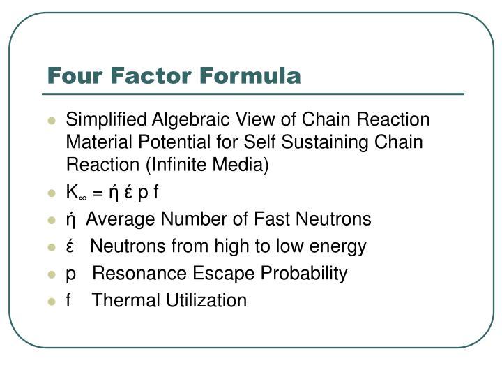 Four Factor Formula