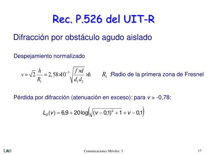 Rec. P.526 del UIT-R