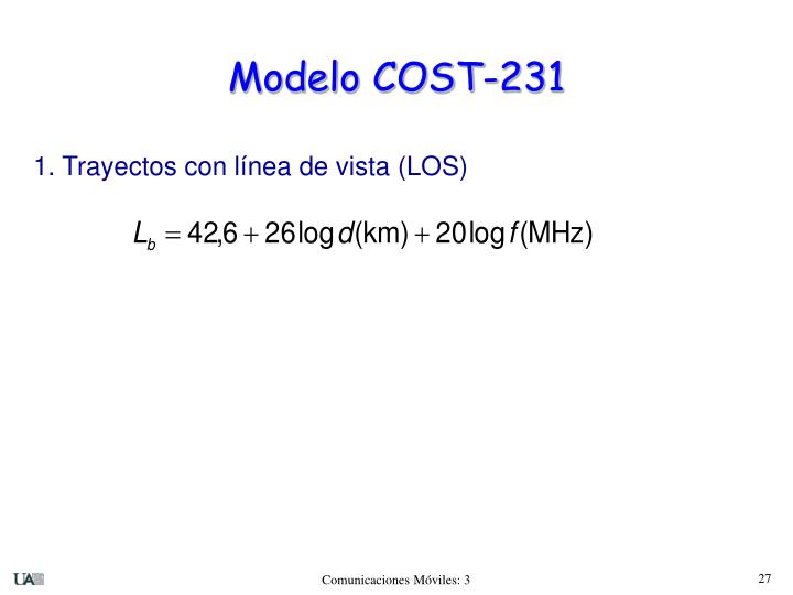 Modelo COST-231