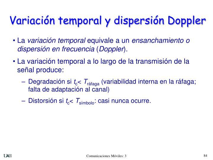 Variación temporal y dispersión Doppler