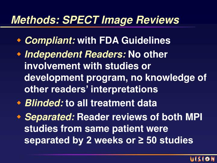 Methods: SPECT Image Reviews