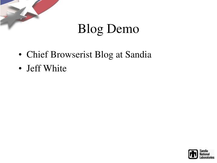 Blog Demo