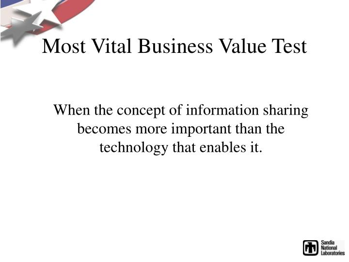 Most Vital Business Value Test
