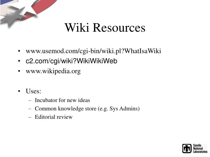 Wiki Resources