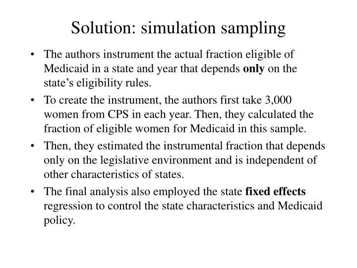 Solution: simulation sampling