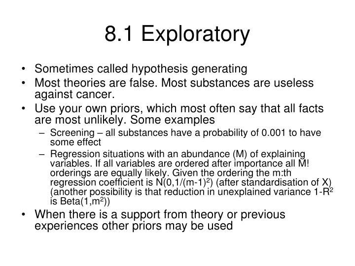 8.1 Exploratory