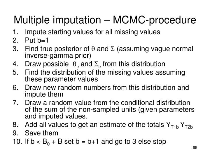 Multiple imputation – MCMC-procedure