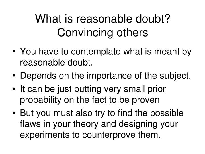 What is reasonable doubt?