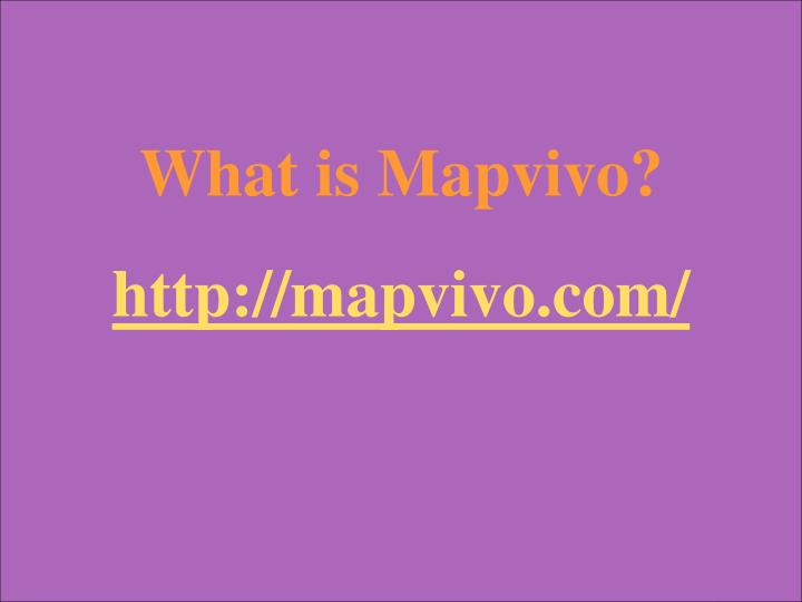 What is Mapvivo?