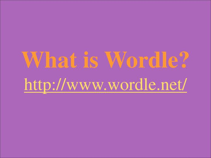 What is Wordle?