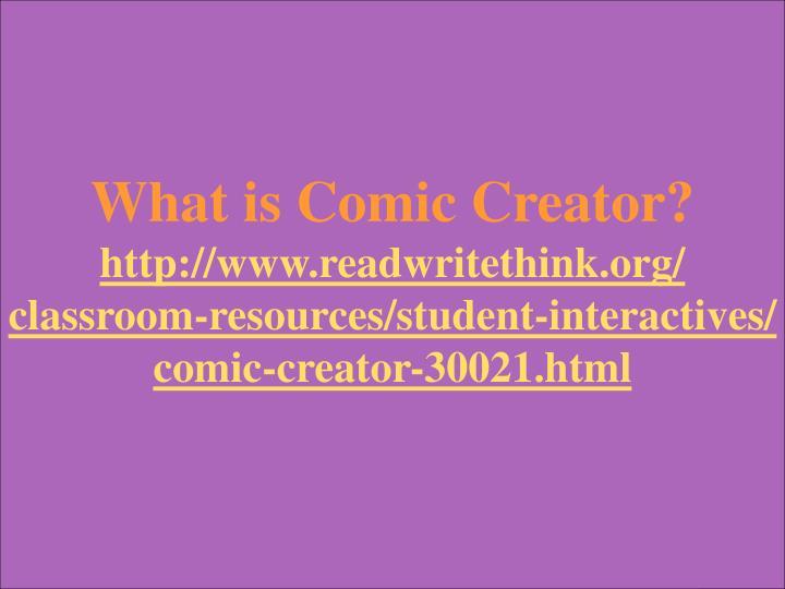 What is Comic Creator?