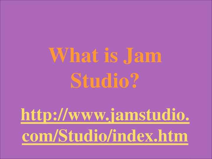 What is Jam Studio?