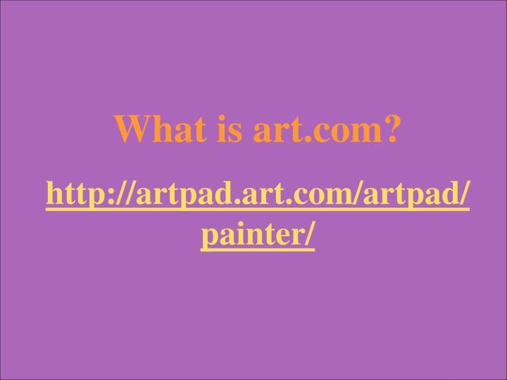 What is art.com?