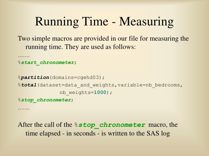Running Time - Measuring