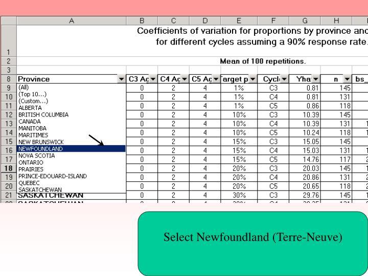 Select Newfoundland (Terre-Neuve)