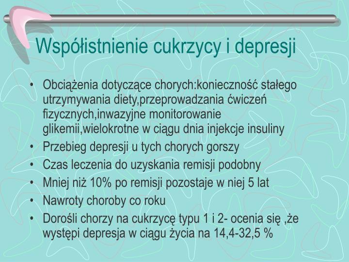 Współistnienie cukrzycy i depresji