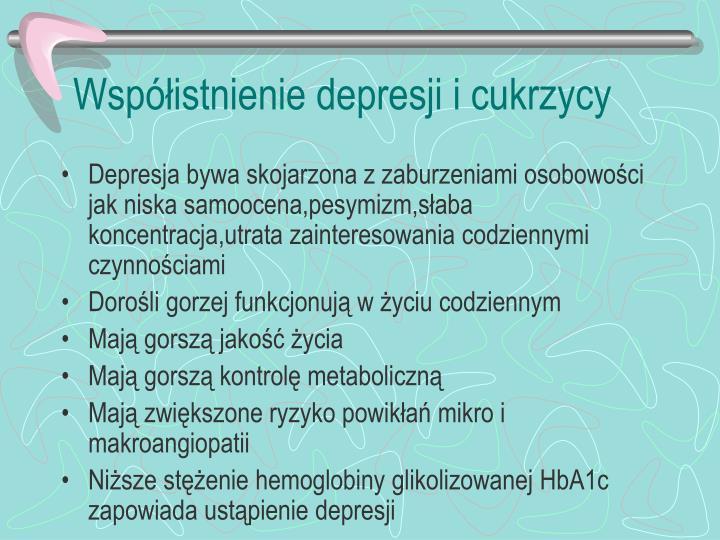 Współistnienie depresji i cukrzycy