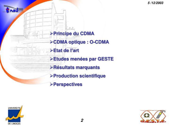 Principe du CDMA