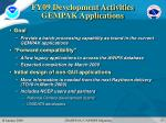 fy09 development activities gempak applications