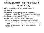 odisha government partnering with xavier university