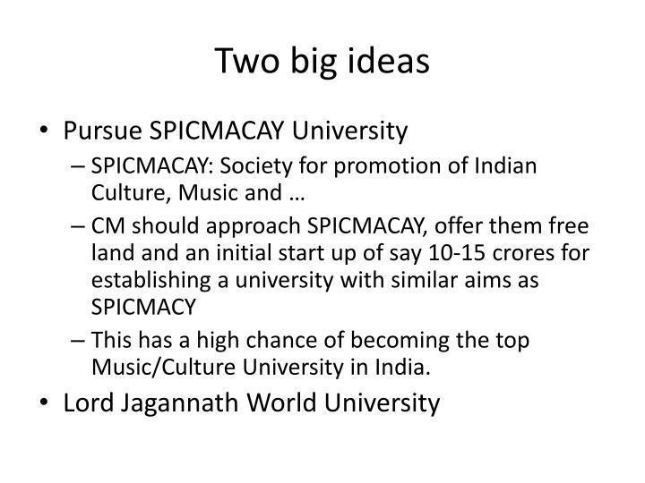 Two big ideas
