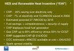 hes and renewable heat incentive rhi