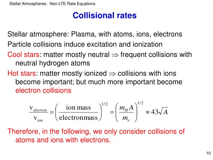 Collisional rates