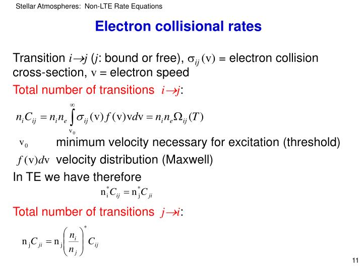 Electron collisional rates