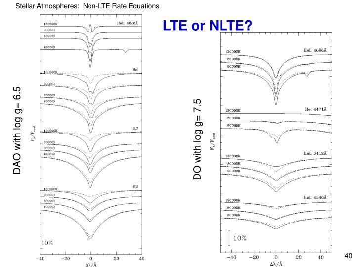 LTE or NLTE?