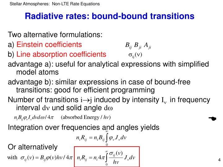 Radiative rates: bound-bound transitions